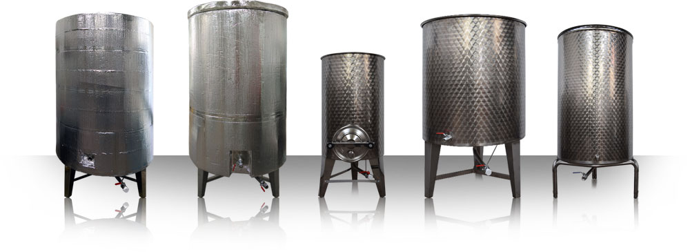 Stainless Steel Vessels for Food Storage and production