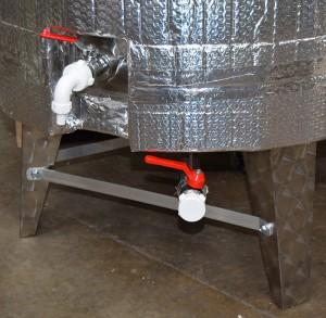 Steel Fermenting Vessel Close Up 10
