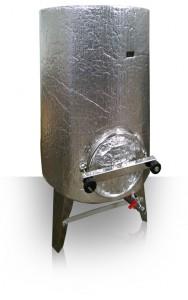 Steel Mash Tun Vessel Main Wrapped