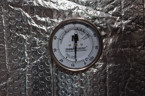 External Temperature Gauge - Stainless Steel Mash Tun Tanks